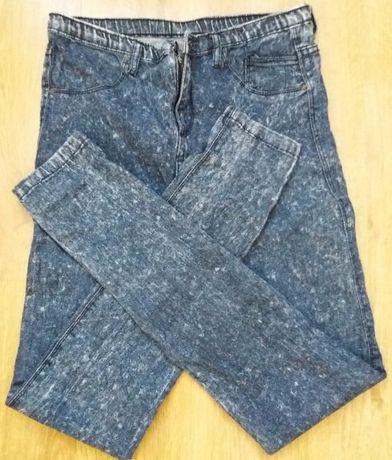 jeansy marmurkowe jak plamki SLIM fit rurki Serious Sally 40 L