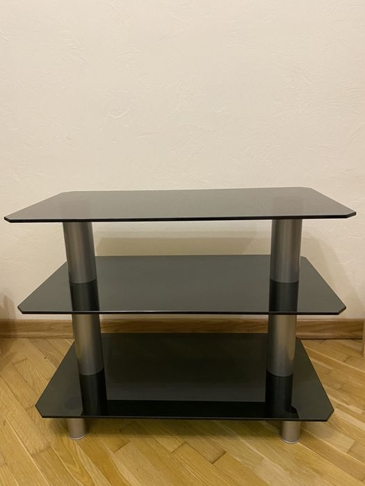 Тумба, столик, підставка під ТВ скляна Луцк - изображение 1
