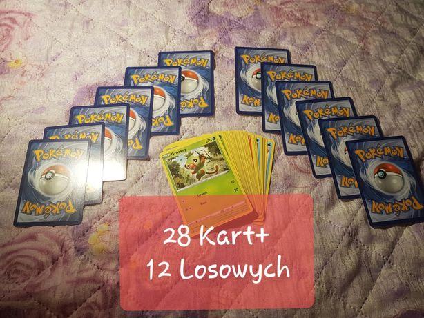 Zestaw 40 Kart  Pokemon dla  Dziecka+ gratis
