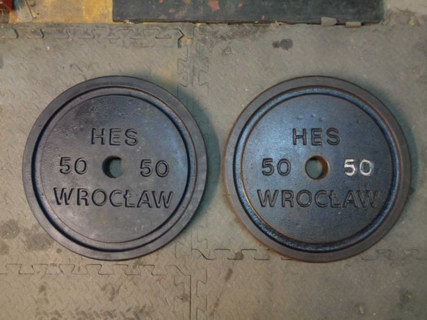Obciążenie olimpijskie Hes Wrocław 2x50kg fi51mm Trójbój .