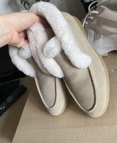 Лоферы ботинки сапоги угги в стиле loro piana