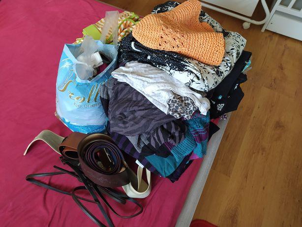 Ubrania, bluzki, spódniczki, swetry, sukienki, paski itp