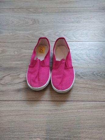 Buty Trampki dla dziewczynki 27 różowe z gumką