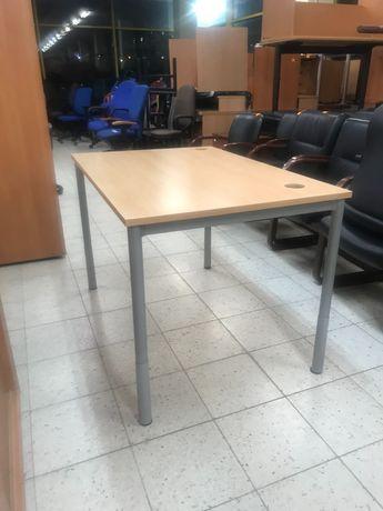 Biurko 120/80 stelarz metalowy nogi regulowane do 10 cm