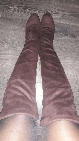 Ботфорты коричневые
