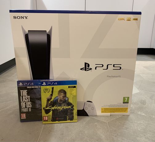 Konsola SONY PlayStation 5  + The Last of Us 2 + Cyber Punk 2077