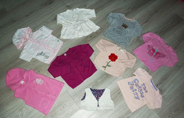 R. 74-80 ubranka body, sukienka, pajace, bluzka, spodnie, legginsy