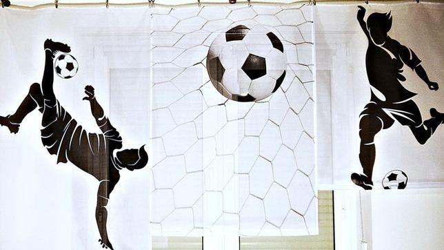 Firanka dla dzieci młodzieży 160x150 Piłkarze piłka nożna druk - BP