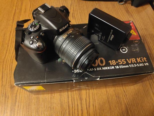Nikon d5100 lustrzanka aparat fotograficzny niski przebieg