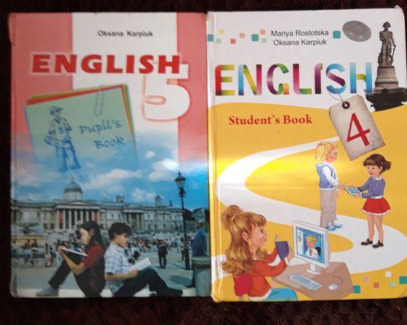 Учебник підручник English 4, 5 клас