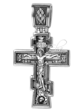 Комплект шнурок и крест Акимовский крест Мужской крест Кпест Серебро