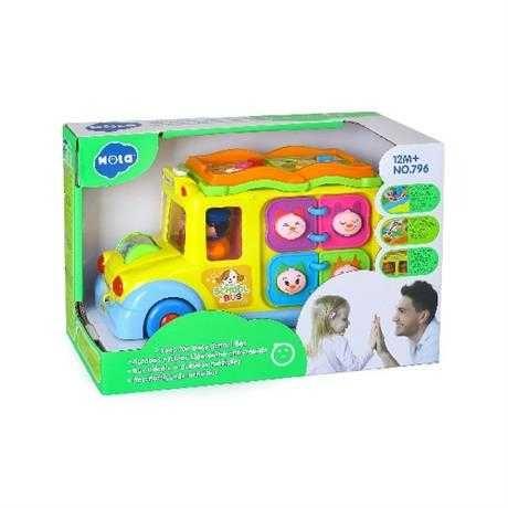 Музична розвивальна іграшка Hola Toys Шкільний автобус