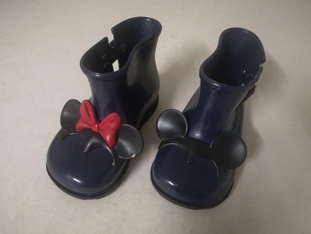 Galochas / botas novas melissas mickey e minie