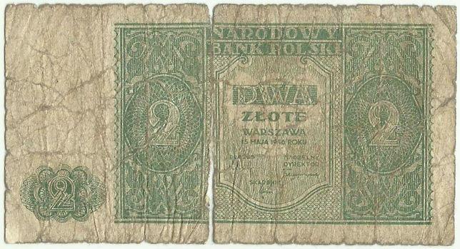 Banknot 2 złote 1946 r.