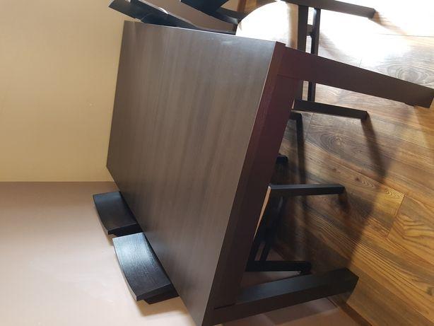 Stół 140-180×90 rozkladany plus 6 krzeseł BRW doors
