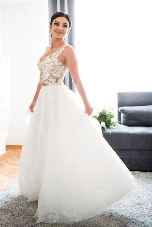 Suknia ślubna dwuczęściowa S