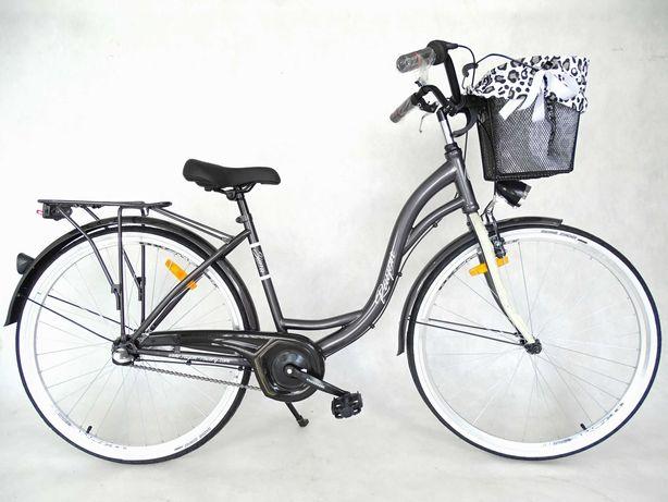 Rower miejski SIERRA 3 biegi 28'' z koszem
