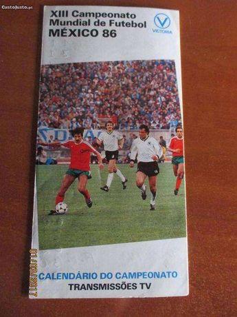 Calendário das transm.TV do Camp. Mundial futebol do México