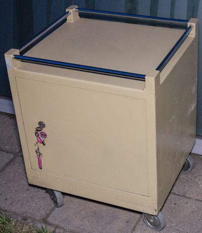 Szafka metalowa na kółkach, wózek warsztatowy, skarbczyk, sejf