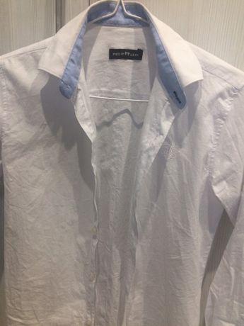 Белая рубашка, рукав на пуговице Турция 10-11 лет