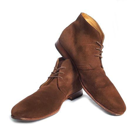 Замшевые ботинки дезерты ручной отделки bexley desert boots