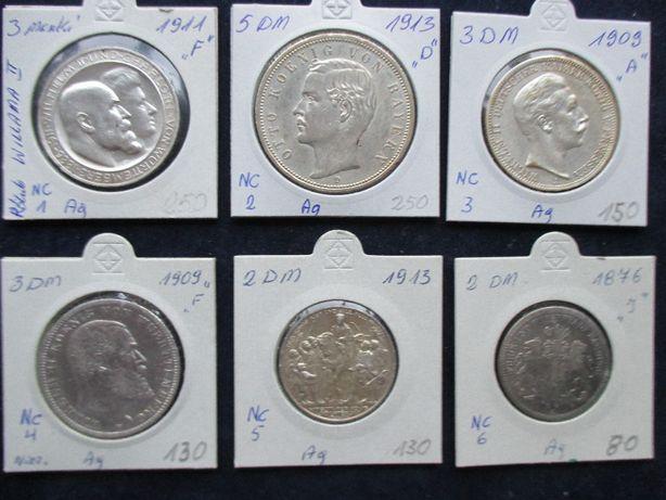 Zestaw srebrnych monet .Oryginały !!! 61