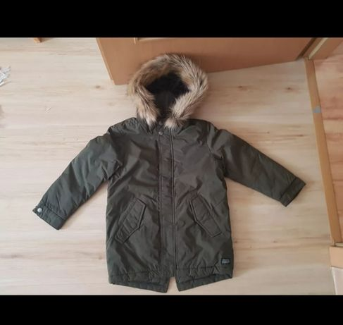 Kurtka zimowa parka Zara 122 + gratis czapka