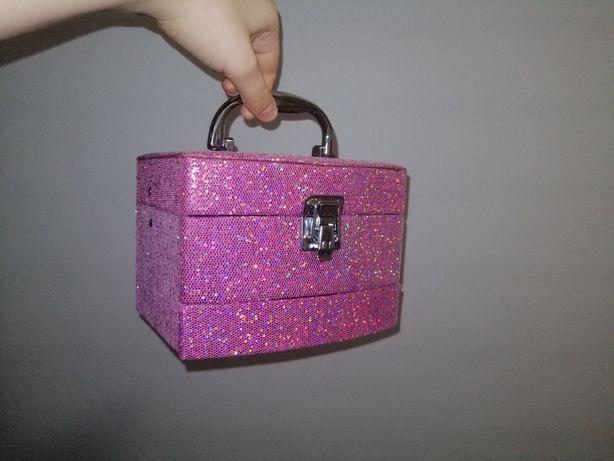 Kuferek Skrzynka na kosmetyki lakiery dla dzieci Kufer Skrzyneczka