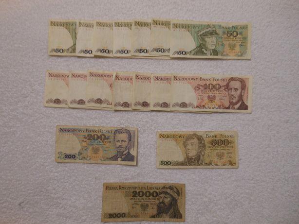 Polskie używane banknoty.