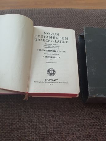 Novum testamentum greace ec lacine 1932 rok