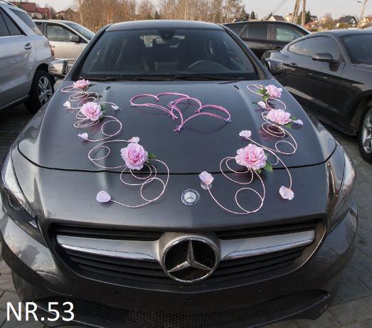 Dekoracje-ozdoby na samochód do ślubu-NOWE
