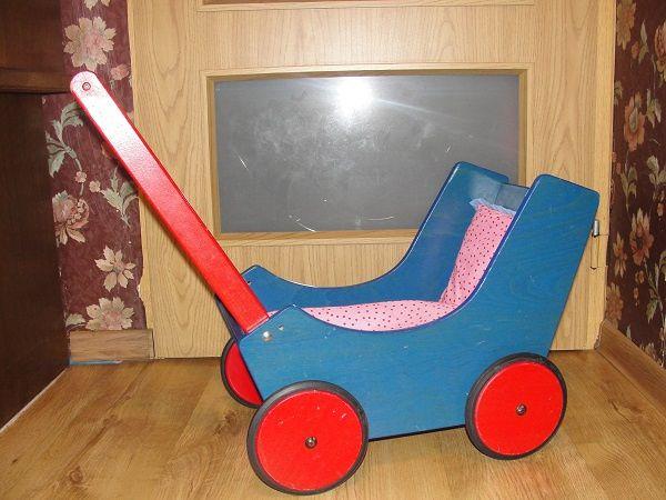 Haba wózek drewniany dla lalek HB 1625 + Lala Tine