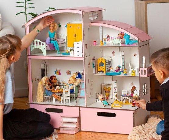деревян кукольный домик лол барби омг винкс набо\р мебел\ь ящик игруш