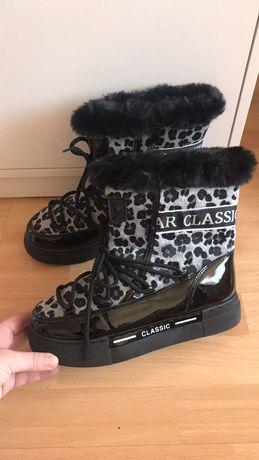 Польша ! Срочно продам ! Зимние ботинки сапоги луноходы  40 размер
