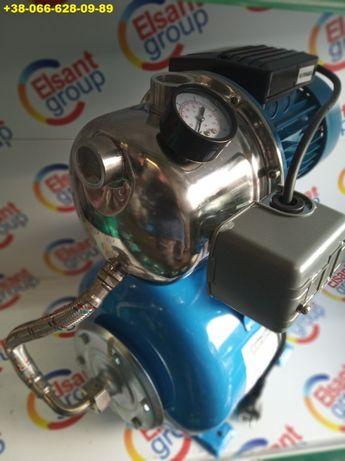 Насос нерж станция в сборе с бачком автоматикой для воды полива 1,5 KW