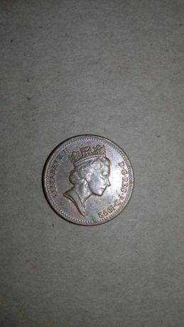 Монета 1 пенни Великобритания