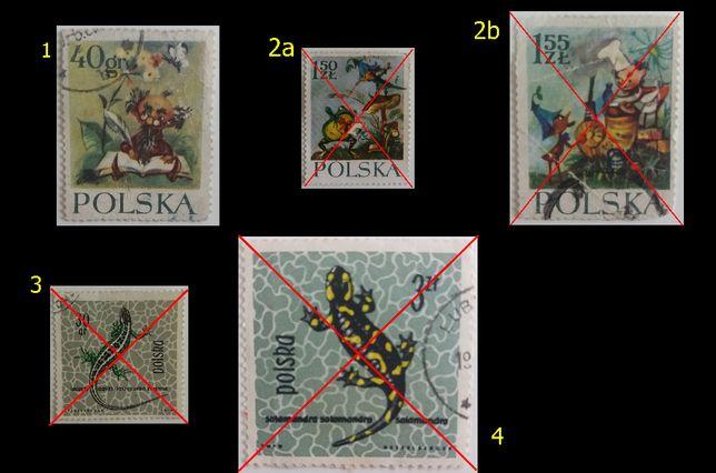 Znaczki pocztowe, Polska 1962_1969, różne serie