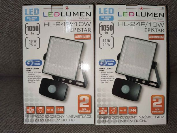 Naświetlacz Halogen Lampa LED 10W CZUJNIK RUCHU