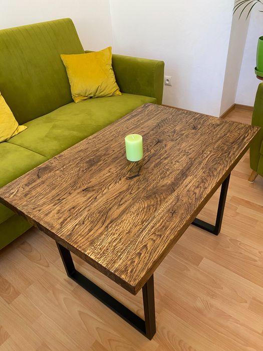 Stolik kawowy Loft dębowy Pilzno - image 1