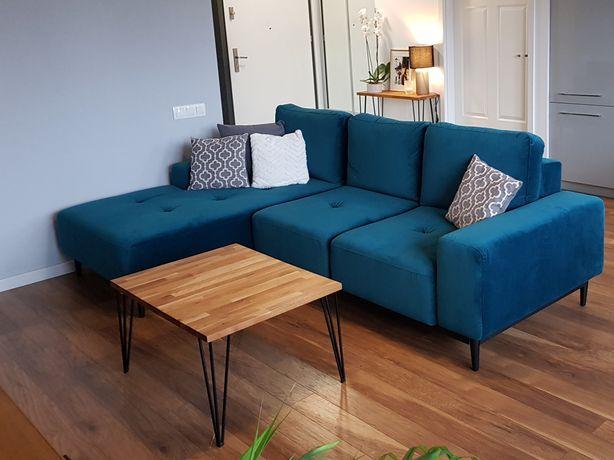 Ława stolik kawowy industrialny modern loft drewno 60x60 60x80 okazja
