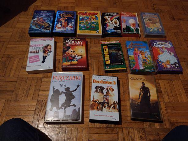 Duży zestaw filmów i bajek na VHS