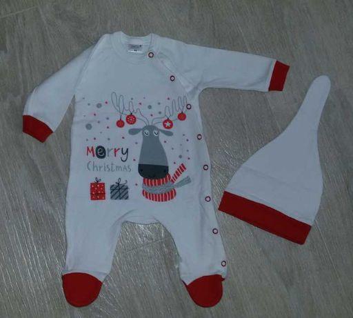 Новодогний человечек, костюм р.56 на 0-3 месяца