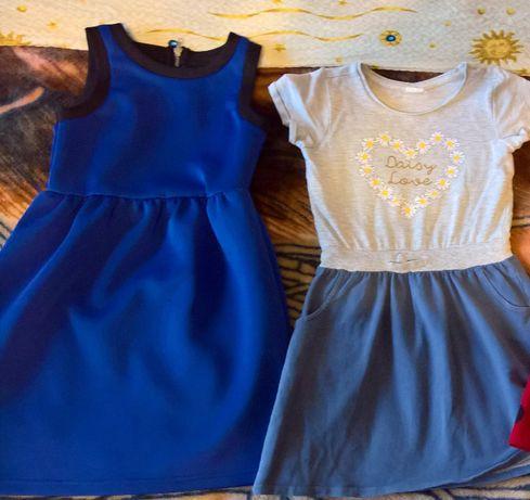 sukienka sukieneczki zimowe ciepłe 128/134/140 st.bdb reserved święta