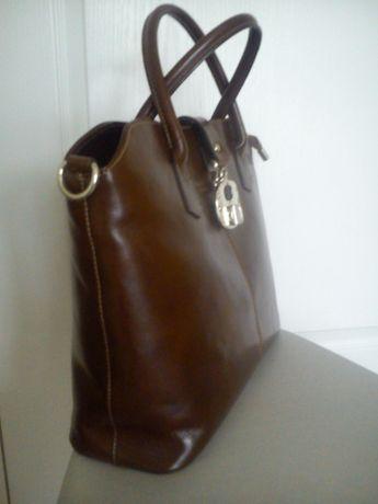 torebka skóra naturalna Genuine Leather stan idealny jak nowa