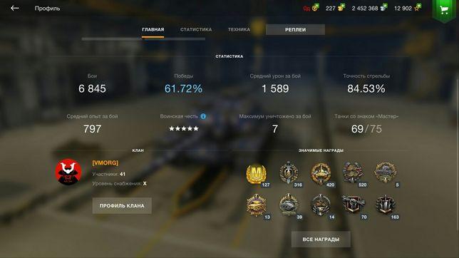 Акаунт в World of Tanks Blitz