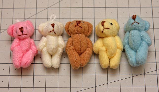 Małe 4cm misie dla lalki bjd i podobnych