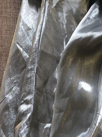 Струящееся вечернее серебряное платье( Франция)