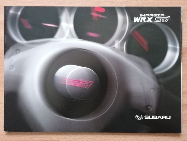 Prospekt Subaru Impreza II WRX STI 2003rok.