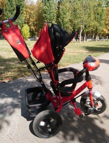Детский трехколесный велосипед Best Trike с родительской ручкой