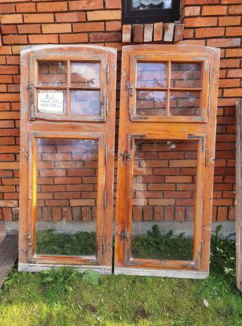 Stare drewniane okna szprosy Vintage
